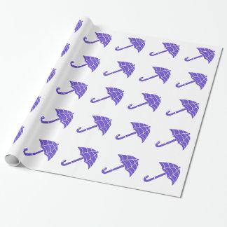 Purple Umbrellas Pattern Wrapping Paper