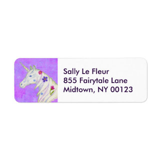 Purple Unicorn address label