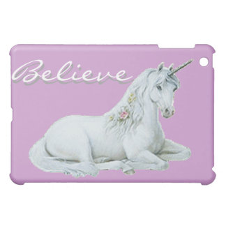 Purple Unicorn - Believe iPad Mini Cover