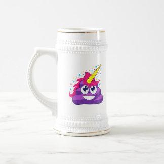Purple Unicorn Emoji Poop Beer Stein