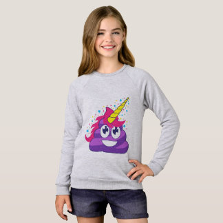 Purple Unicorn Emoji Poop Sweatshirt