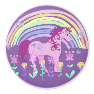 Purple Unicorn Fairy Tale Knob