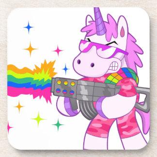 Purple Unicorn - Gun Drink Coasters