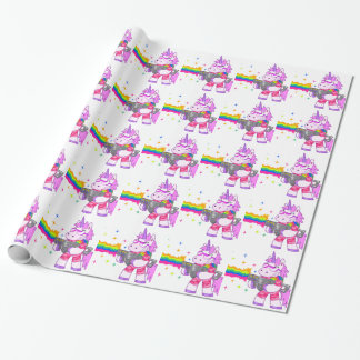Purple Unicorn - Gun Wrapping Paper