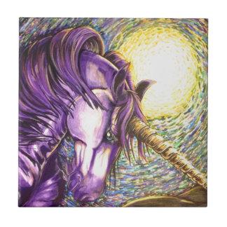 purple unicorn tile