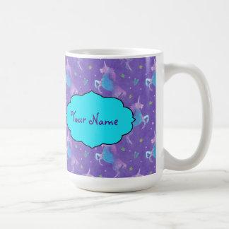 Purple Unicorns Pink Stars Coffee Mug