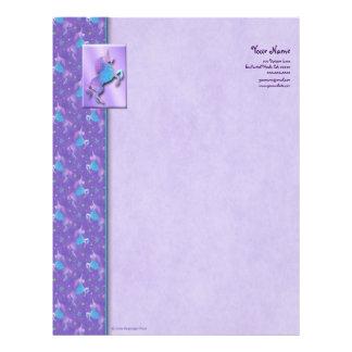 Purple Unicorns Pink Stars Letterhead
