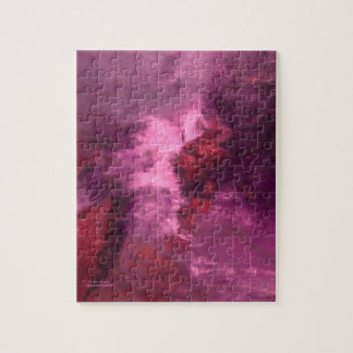 """""""PURPLE UNIVERSE ABSTRACT"""" JIGSAW PUZZLE"""
