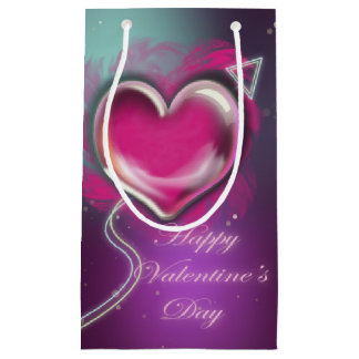 Purple Valentine's Day Gift Bag-Small, Glossy Small Gift Bag