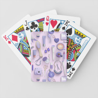 Purple Vanity Table Bicycle Playing Cards