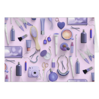 Purple Vanity Table Card