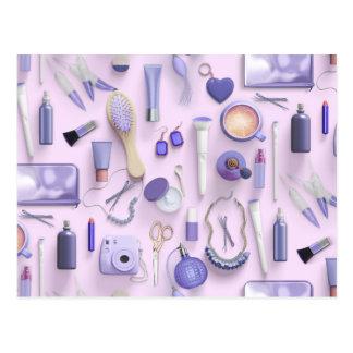Purple Vanity Table Postcard