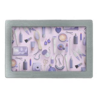 Purple Vanity Table Rectangular Belt Buckles