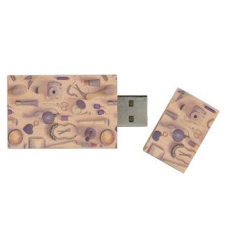 Purple Vanity Table Wood USB 2.0 Flash Drive