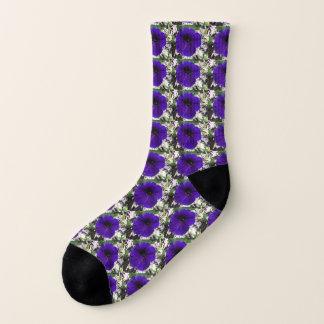 PURPLE VELVET PETALS sock 1