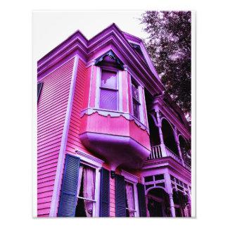 Purple Victorian House Photo Art