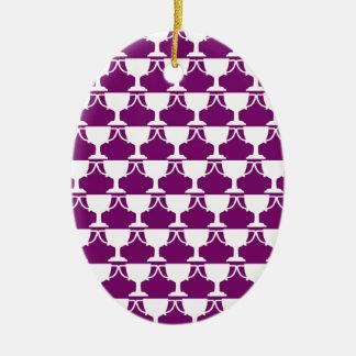 Purple Victorian Lace Ceramic Ornament