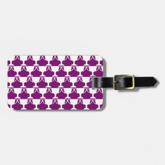 Purple Victorian Lace Luggage Tag