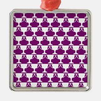 Purple Victorian Lace Metal Ornament