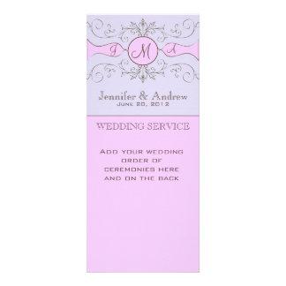Purple Vintage Church Wedding Programs Invitations