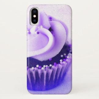 Purple Vintage Cupcake Sprinkles iPhone X Case
