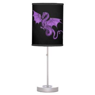 Purple Vintage Dragon Black Lamp