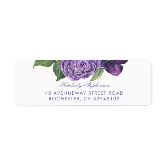 Purple Vintage Floral Wedding