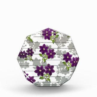 Purple vintage flowers