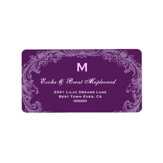 Purple Vintage Monogram B455