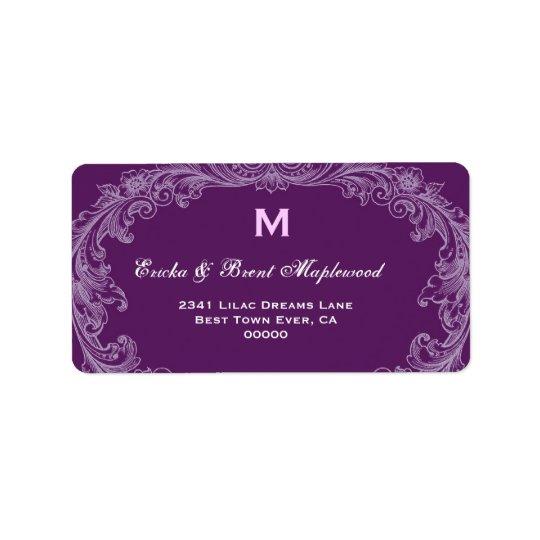 Purple Vintage Monogram B455 Label