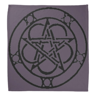 Purple Vintage Pentacle Tarot Cloth Bandana
