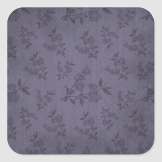 Purple Vintage Wallpaper Square Stickers