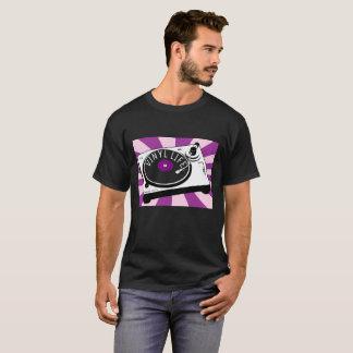 Purple Vinyl Life Retro Turntable T-Shirt