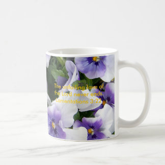 purple viola, The unfailing love mug