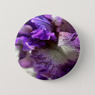 Purple, Violet and Mauve Iris Abstract 2 Inch Round Button