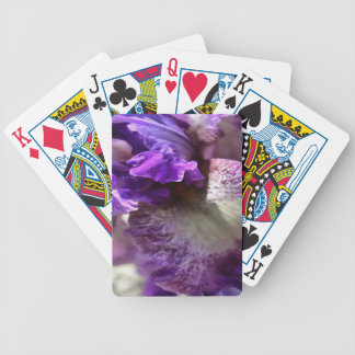 Purple, Violet and Mauve Iris Abstract Bicycle Playing Cards