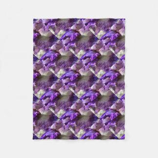 Purple, Violet and Mauve Iris Abstract Fleece Blanket