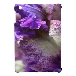 Purple, Violet and Mauve Iris Abstract iPad Mini Case