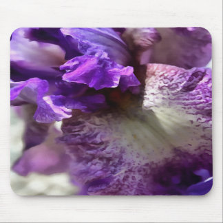 Purple, Violet and Mauve Iris Abstract Mouse Pad