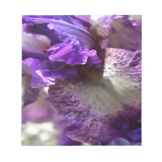Purple, Violet and Mauve Iris Abstract Notepad