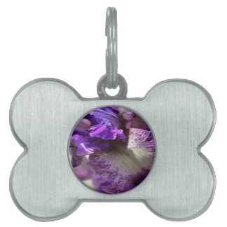 Purple, Violet and Mauve Iris Abstract Pet Name Tag
