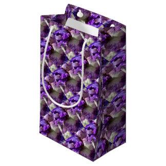 Purple, Violet and Mauve Iris Abstract Small Gift Bag