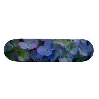 Purple violet Hydrangeas Skateboards