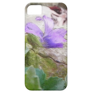 Purple Violet In The Rock Garden iPhone 5 Case