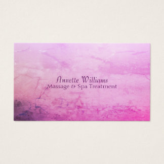 Purple violet stone marble faux look business card