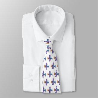 Purple Violin Key Tie