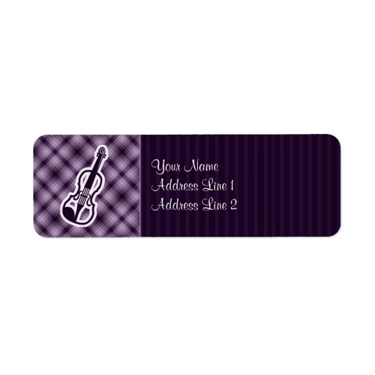 Purple Violin Return Address Label