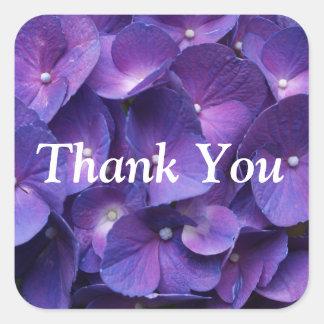 Purple Viollet Hydrangea ThankYou Sticker