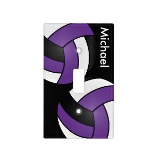 Purple Volleyball Sport Style | DIY Name Light Switch Cover
