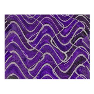 purple wall postcard